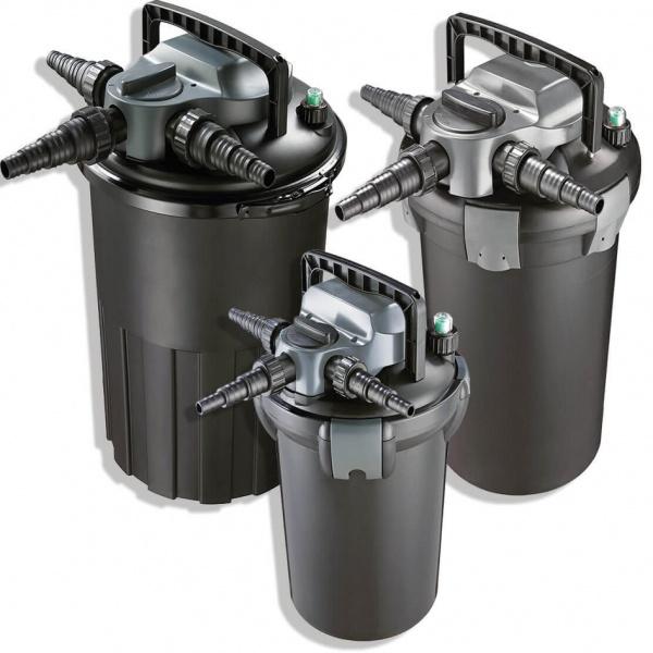 Trykkfilter m uv og tilbakespyling for Koi dam utstyr