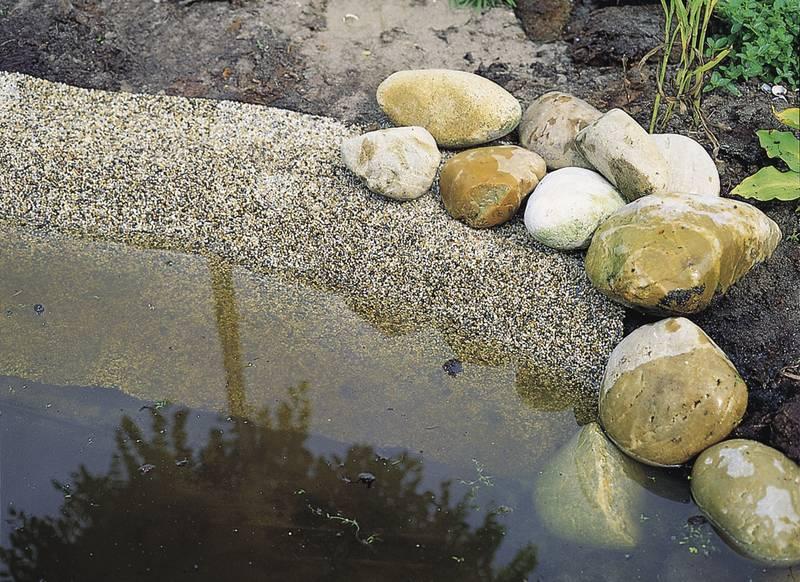 Kant stein damduk for Koi dam utstyr